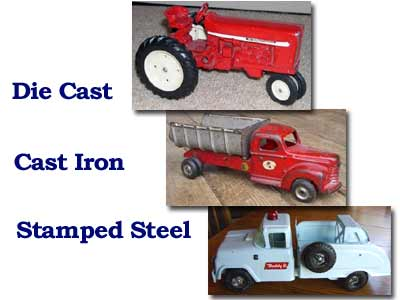 Die Cast, Cast Iron, Stamped Steel